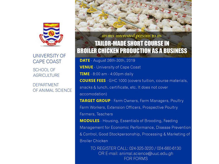 Tailor-Made Short Course in Broiler Chicken Producation Training Workshop poster