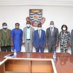 Vice-Chancellor with the delegation from AIMS Ghana